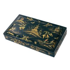 1stdibs | Early Victorian Chinoiserie Papier Mache Lacquered Box ca. 1840