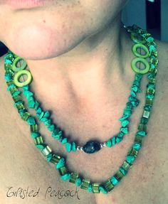 Long layering necklace by Twisted Peacock