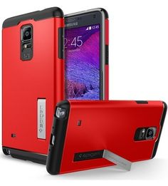 Feyeshoppy Spigen Tough Armor Back Cover With Mobile Stand Case For Samsung Galaxy Note 4
