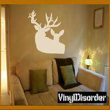Deer Wall Decal - Vinyl Decal - Car Decal - NS004