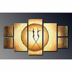 @Overstock.com - 'Dance' Hand-painted Abstract Art Set - This multiple panel piece of artwork will fill most walls with a wonderful looking piece of hand-painted abstract canvas art. The oil on canvas work is done in a contemporary style with each unique painting serving as a colorful artistic centerpiece.  http://www.overstock.com/Home-Garden/Dance-Hand-painted-Abstract-Art-Set/4573314/product.html?CID=214117 $146.69