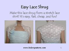 Make an Easy Lace Shrug