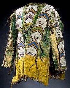 Clothing; Sioux, War Shirt, Beaded Hide, 38 inch.