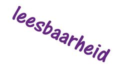 tekst: violet achtergrond: kleur
