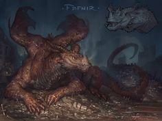 ArtStation - Creatuanary 2020!, Taran Fiddler Fantasy Dragon, Fantasy Rpg, Dragon Art, Weird Creatures, Fantasy Creatures, Mythical Creatures, Fantasy Monster, Monster Art, Creature Concept Art
