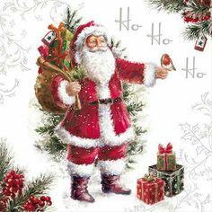 Weihnachtsservietten, 33 x 33 cm Christmas Scenes, Christmas Pictures, Christmas Art, Christmas Greetings, Beautiful Christmas, Winter Christmas, Christmas Decorations, Father Christmas, Vintage Christmas Cards