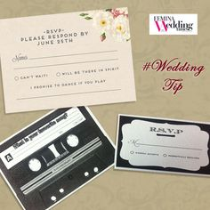 On your RSVP cards, ask for your guests' favorite wedding songs, compile a list and have them played as the background score.