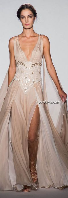 Love this neutral nude colours and lines. Zuhair Murad Spring Summer 2013  Haute Couture - Paris