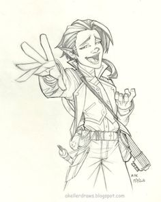 Daily Drawing Scanlan Scanlan the gnome bard from critical role.