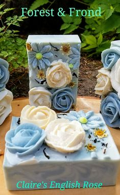 Claire's English Rose, Outlander inspired artisan soap by ForestandFrond.etsy