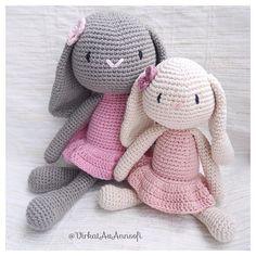 WEBSTA @ virkatavannsofi - Kaniner i två storlekar... #amigurumi #crochet…
