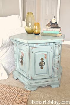 What to do with our hand-me-down old octagon end table...