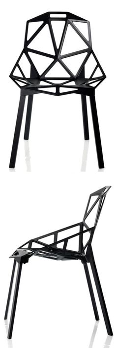 Konstantin Grcic: Chair One (Set of 2) Black | Available from NOVA68.com Modern Design