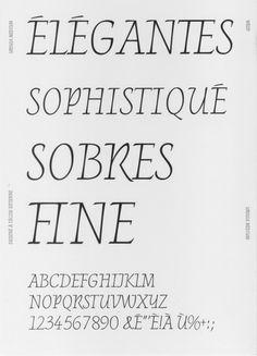 © Arthur Teboul - 2016 Réalisation d'un specimen typographique brochure format 29,7 x 42 cm en papier journal.