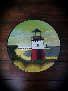 David Carter Brown 10 1/2 Lighthouse Plate by Shouldabeensistas $10.00 & David Carter Brown BY THE SEA Lighthouse Plate Oneida | Do the ...