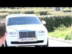 Cristiano Ronaldo back to Real Madrid Training in that beautiful Rolls Royce