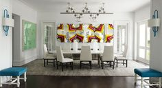 Modern Mix dinning room ~ by Timothy Haynes and Kevin Roberts