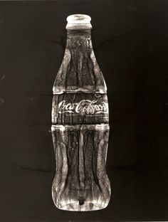 coca cola bottle, creates another interesting effect and image put plastic sheet over top for tone.