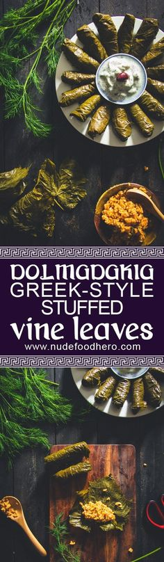 Turn up your appetiser food game with these Dolmadakia: Greek-style stuffed vine leaves. Quick and easy to make and did I mention delicious?