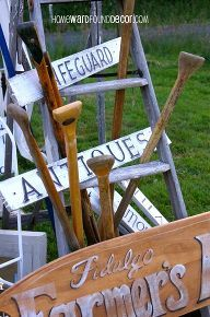 don t fence me in using garden fences as decor, home decor, repurposing upcycling, fence pickets turned into vintage look signs