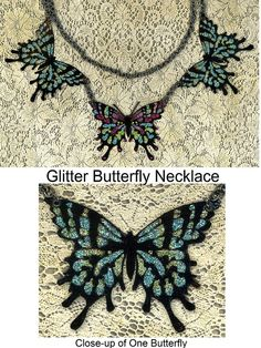 Butterfly Necklace - Paper Jewelry - Glitter Art Project by ekduncan, via Flickr