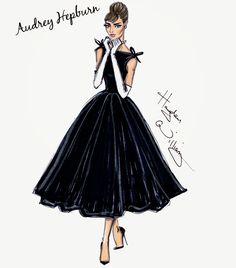 #Hayden Williams Fashion Illustrations #Happy Birthday Audrey Hepburn!