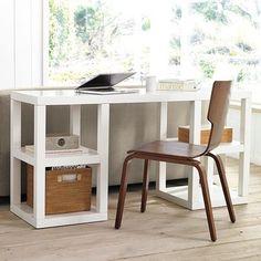 2 x 2 Console Desk - modern - desks - West Elm