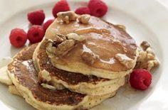 Flaxseed pancakes Whole wheat flour 1/2 cup ground flaxseed 1 tbsp cinnamon 1 tbsp sugar 1 tbsp baking powder 13/4 cup skim milk 1 egg 1 tsp vanilla extra...