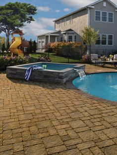 You can't go wrong with a pavingstone pool patio from Cambridge.