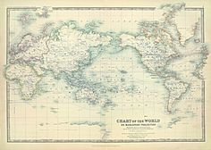 World Map of the Ocean Currents 1893 - 20 x 30 Print Poster. $29.95, via Etsy.