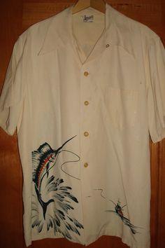 MATCHING SET Vintage 40s Catalina Marlin Shirt by thehanashirtco, $495.85