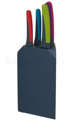 @PJ Marketing @Kitchen Craft  www.pjmarketing.co.za #new #ColourWorks 5 piece set #KnifeBlock