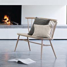 Love Seat, elm seat/beech frame: Ercol, 1956
