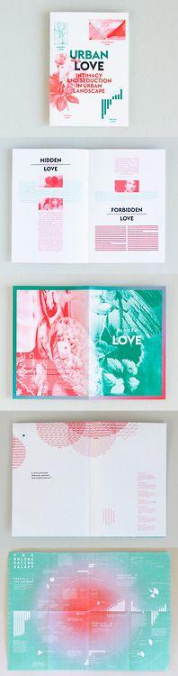 Urban love modern brochure design inspiration. I love the beautiful print colors.