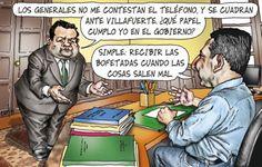El trazo de Carlin sobre el ministro de Defensa, Jose Urquizop...
