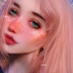 Other girls vs. (Just kidding were all fabulous moonkits on the inside Digital Art Girl, Digital Portrait, Portrait Art, Kawaii Anime Girl, Anime Art Girl, Anime Girls, Girl Cartoon, Cartoon Art, Art Anime Fille
