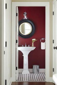 Ideas To Use Marsala For Bathroom Décor | DigsDigs