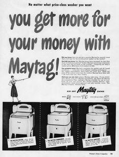 Retro Advertising, Vintage Advertisements, Commercial Laundry, Washing Machines, Washer, Washers, Washing Machine, Washing Machine, Vintage Ads