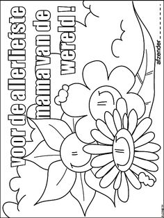 De Mooiste Kleurplaten Voor Moederdag.94 Fascinerende Afbeeldingen Over Moederdag Kleurplaten Adult