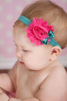 Gasa y lentejuelas pelo niña diadema bebé por BabyBloomzBoutique