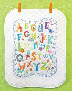 Alphabet Baby Quilt Stamped Cross Stitch Kit