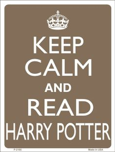 KEEP CALM and Read Harry POTTER Tin Aluminum Parking sign home decor wall hanging