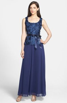 Marina Soutaché Mock Two Piece Gown available at #Nordstrom