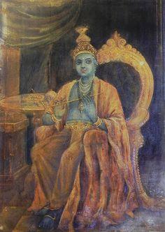 Paramchaintanya Men — Krishna as King      REPRINTS OF RAJA RAVI VARMA...