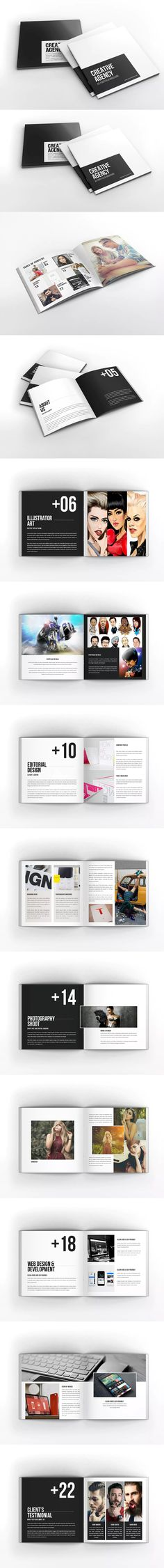 Creative Agency - Square Portfolio Brochure Template InDesign INDD