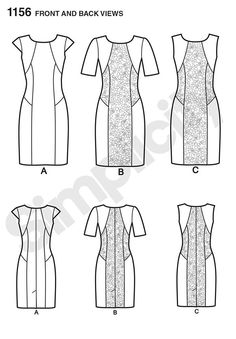 this amazing fit dress for miss and miss plus has option of contrast panels and sleeve lengths. pattern includes individual pattern pieces for b,c,d,dd cup sizes and can also be fit for petite.