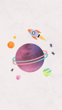Download premium vector of Colorful galaxy watercolor doodle with a rocket on pastel background mobile phone wallpaper vector by Toon about Cartoon cute, galaxy wallpaper, planets wallpaper, cute posters, and cosmos watercolor 1230099