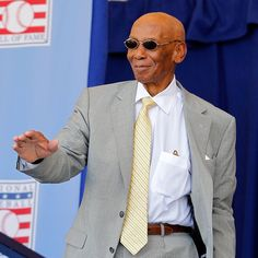 Ernie Banks at Cooperstown in 2012.