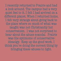 Letter Of Support For Prairie Bible Institute Survivors Www