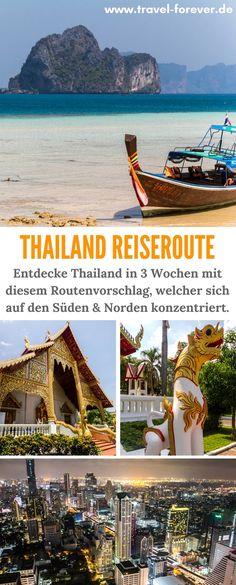 Thailand Rundreise in 3 Wochen. Hier meine detaillierte Routenenempfehlung mit den wichtigsten und schönsten Reisezielen in Thailand im Norden und im Süden. | Reiseroute | Thailand Route | Urlaub Thailand | Sehenswürdigkeiten |